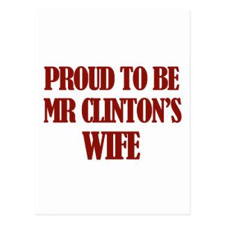 Diseños de señora Clinton Postal