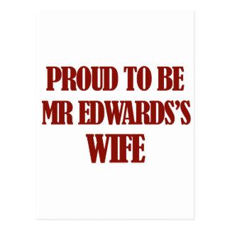 Diseños de señora Edwards Postal