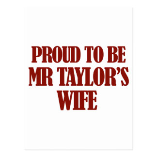 Diseños de señora TAYLOR Tarjeta Postal