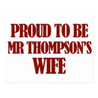 Diseños de señora thompson postal