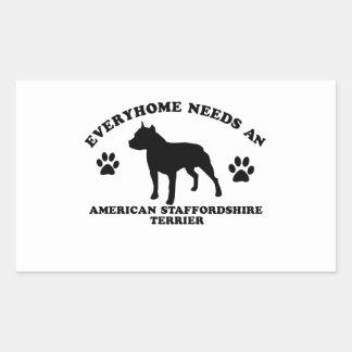 Diseños de Staffordshire Terrier americano Pegatina Rectangular
