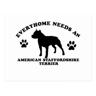 Diseños de Staffordshire Terrier americano Postales