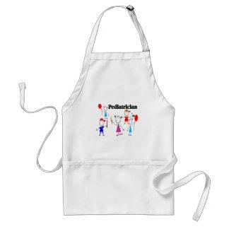 Diseños de Stickpeople de los niños de los regalos Delantal