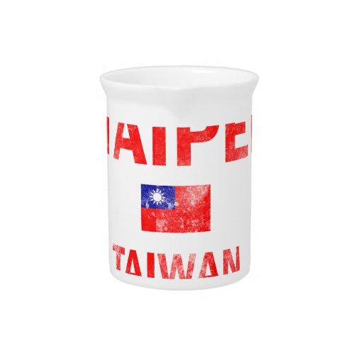 Diseños de Taipei Taiwán Jarra Para Bebida
