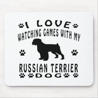 Diseños de Terrier del ruso Mouse Pads