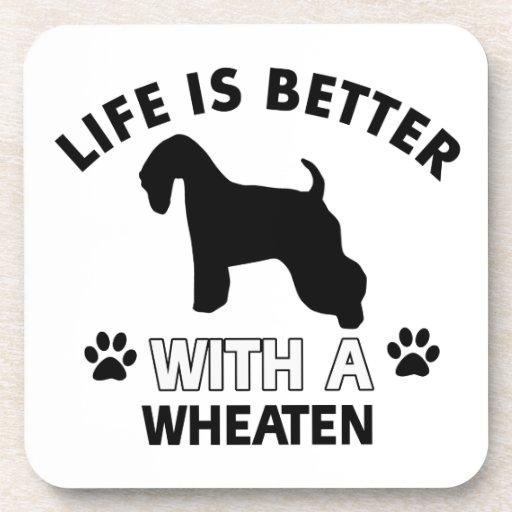 Diseños de trigo de la raza del perro posavaso