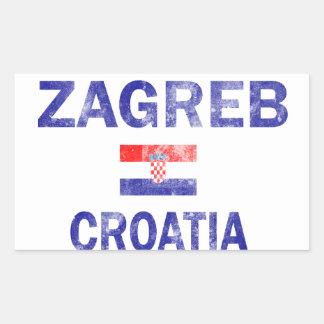 Diseños de Zagreb Croatia Pegatina Rectangular