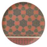 Diseños decorativos árabes, del 'arte árabe según  plato de comida