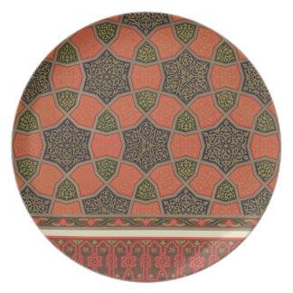 Diseños decorativos árabes, del 'arte árabe según  plato
