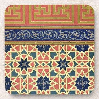 Diseños decorativos árabes litho del color posavasos de bebidas
