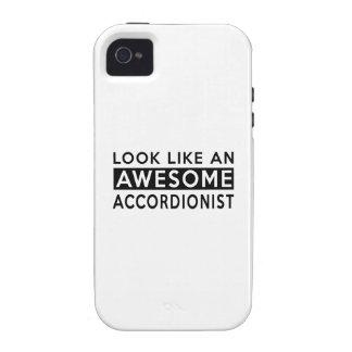 Diseños del ACORDEONISTA Case-Mate iPhone 4 Funda