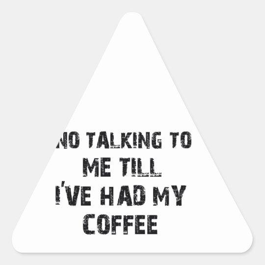 Diseños del amante del café pegatina triangular