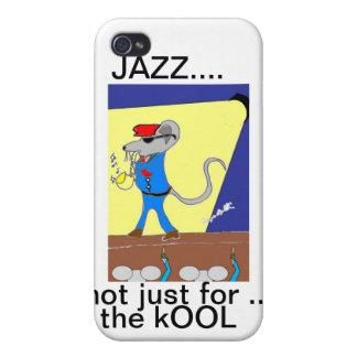 diseños del amante del jazz iPhone 4 carcasa