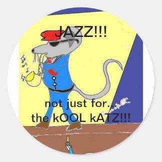 diseños del amante del jazz pegatina redonda