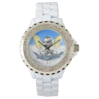 diseños del ángel del bebé relojes de pulsera