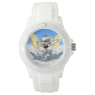 diseños del ángel del bebé relojes