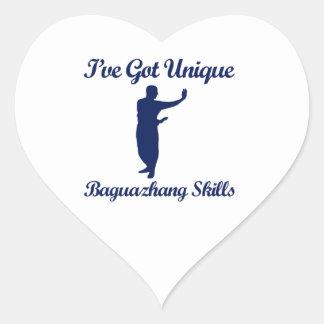 Diseños del arte marcial de Baguazhang Pegatina En Forma De Corazón