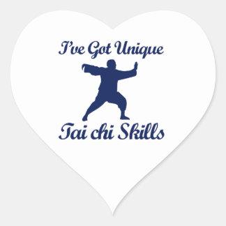 diseños del arte marcial de la ji del tai pegatina en forma de corazón