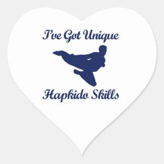 diseños del arte marcial del hapkido pegatina en forma de corazón