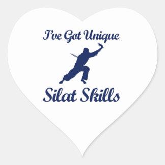 diseños del arte marcial del silat pegatina en forma de corazón