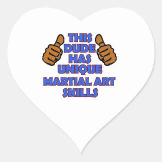 Diseños del arte marcial pegatina en forma de corazón