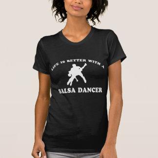Diseños del bailarín de la salsa camiseta