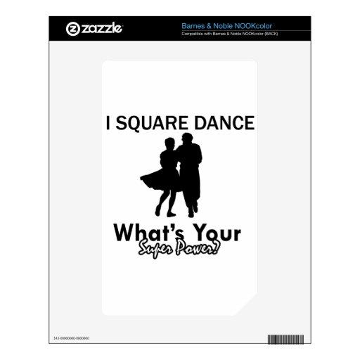 Diseños del baile cuadrado skins para elNOOK color