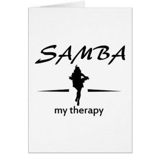 Diseños del baile de la samba tarjeta de felicitación