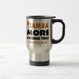 Diseños del baile de la samba taza de viaje de acero inoxidable