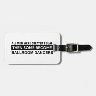 Diseños del baile de salón de baile etiquetas de maletas