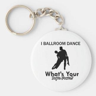 Diseños del baile de salón de baile llavero redondo tipo pin