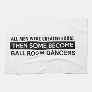 Diseños del baile de salón de baile toalla de cocina