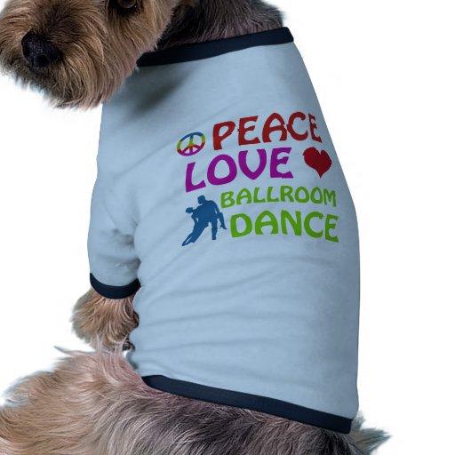 Diseños del baile de salón de baile camiseta de perro