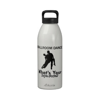 Diseños del baile de salón de baile botella de agua reutilizable