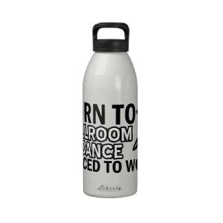 Diseños del baile de salón de baile botellas de agua reutilizables