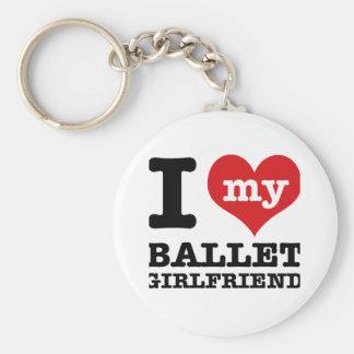 Diseños del baile del ballet llavero redondo tipo pin