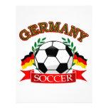Diseños del balón de fútbol de Alemania Plantilla De Membrete