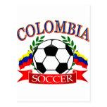 Diseños del balón de fútbol de Colombia Postales