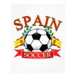 Diseños del balón de fútbol de España Plantilla De Membrete