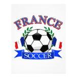 Diseños del balón de fútbol de Francia Membrete Personalizado