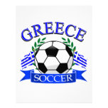 Diseños del balón de fútbol de Grecia Membrete Personalizado