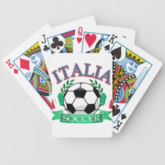Diseños del balón de fútbol de Italia Baraja Cartas De Poker