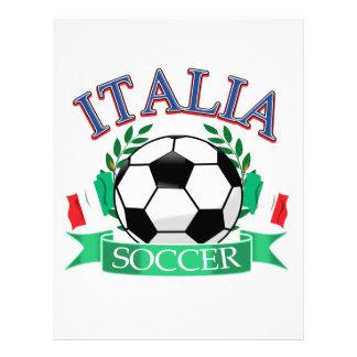 Diseños del balón de fútbol de Italia Membrete