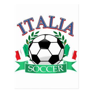 Diseños del balón de fútbol de Italia Tarjetas Postales