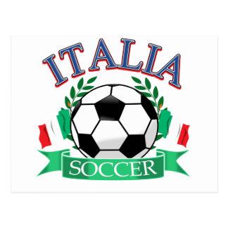 Diseños del balón de fútbol de Italia Tarjeta Postal