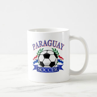 Diseños del balón de fútbol de Paraguay Tazas De Café