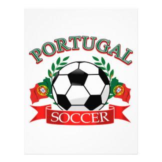 Diseños del balón de fútbol de Portugal Plantilla De Membrete