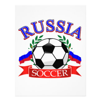 Diseños del balón de fútbol de Rusia Plantilla De Membrete