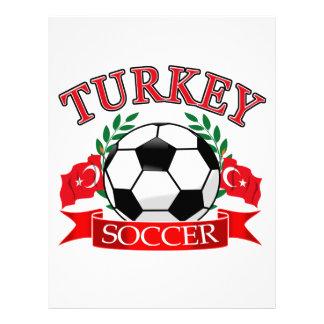 Diseños del balón de fútbol de Turquía Membrete A Diseño