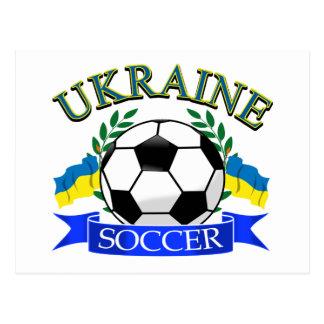 Diseños del balón de fútbol de Ucrania Tarjetas Postales